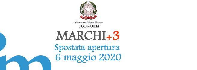 Slitta al 06/05/2020 la data per la presentazione delle domande per il Bando Marchi+3